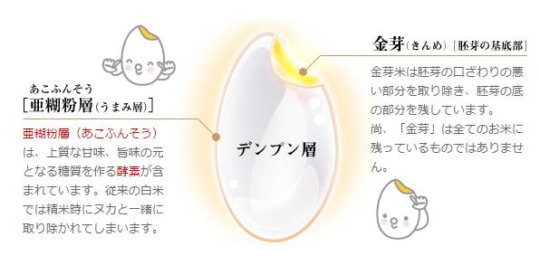 東洋ライスの金芽米の説明