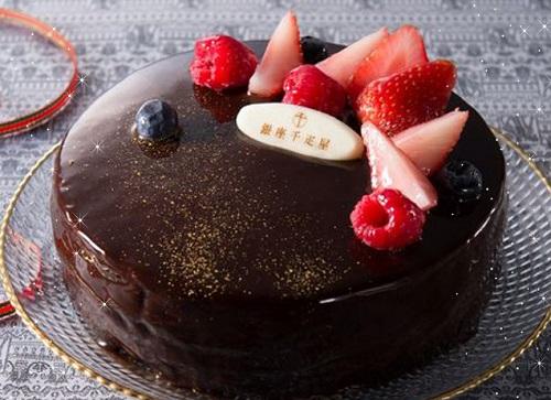 千疋屋のクリスマスチョコレートケーキ